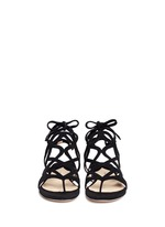 'Lila' cutout suede caged sandals