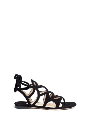 Main View - Click To Enlarge - Paul Andrew - 'Lila' cutout suede caged sandals