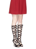 'Mia' knee high suede gladiator sandals