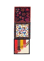 One of a kind patchwork ornate print silk scarf