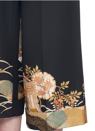 Detail View - Click To Enlarge - IBRIGU - One of a kind kimono embroidery hem pants