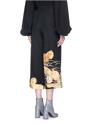 Back View - Click To Enlarge - IBRIGU - One of a kind kimono embroidery hem pants
