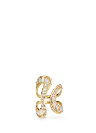 Fernando Jorge - 'Stream' diamond 18k yellow gold open ring
