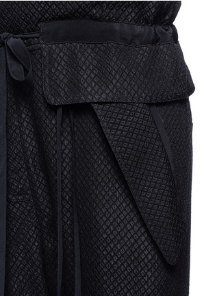 Detail View - Click To Enlarge - Chloé - Snake effect drop crotch cloqué drawstring jumpsuit