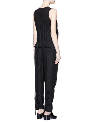 Back View - Click To Enlarge - Chloé - Snake effect drop crotch cloqué drawstring jumpsuit