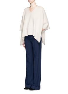 CHLOÉCashmere rib knit cape coat