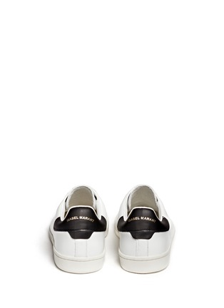 Back View - Click To Enlarge - Isabel Marant Étoile - 'Bart' contrast collar leather sneakers
