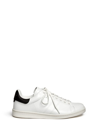 Main View - Click To Enlarge - Isabel Marant Étoile - 'Bart' contrast collar leather sneakers