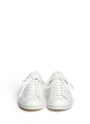 Figure View - Click To Enlarge - Isabel Marant Étoile - 'Bart' contrast collar leather sneakers