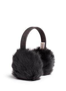 KARL DONOGHUEShimmer Toscana lambskin shearling suede ear muffs