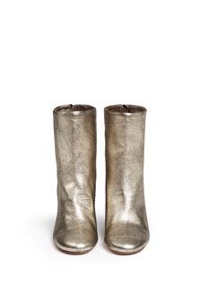 ISABEL MARANTMetallic cracked leather ankle boots