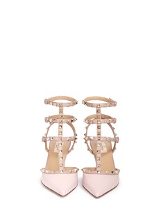 VALENTINO 'Rockstud' caged calfskin leather pumps