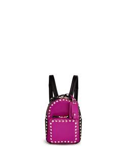 Valentino'Rockstud' mini colourblock leather backpack