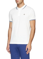Contrast trim logo embroidery polo shirt