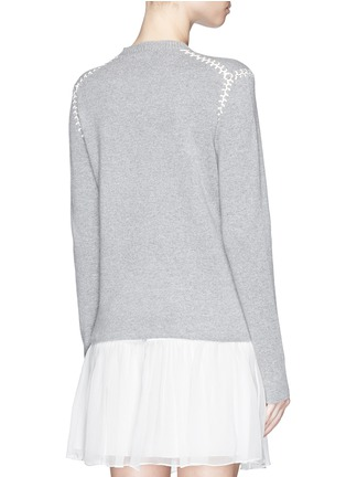 Back View - Click To Enlarge - Chloé - Blanket stitch cashmere cotton sweater