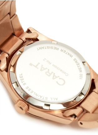 Detail View - Click To Enlarge - CARAT* - Chelsea rose gold-tone (white) watch