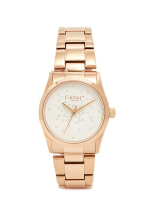Main View - Click To Enlarge - CARAT* - Chelsea rose gold-tone (white) watch