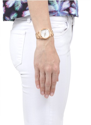 Figure View - Click To Enlarge - CARAT* - Chelsea rose gold-tone (white) watch