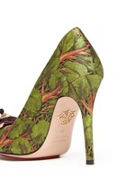Enchanted Forest print teddy bear satin pumps