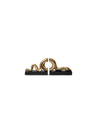 Main View - Click To Enlarge - L'Objet - Gold Snake Bookend Set