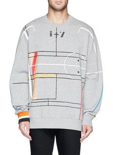 GIVENCHY Basketball court abstract print sweatshirt