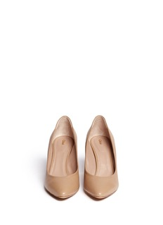 CHLOÉ Metal plate heel leather pumps