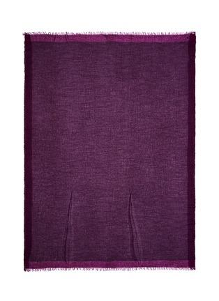 Detail View - Click To Enlarge - Faliero Sarti - 'Morghy' cashmere-modal eyelet edge scarf