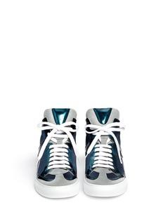 MM6 MAISON MARTIN MARGIELAMetallic leather mesh sneakers