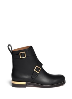 CHLOÉ Buckle leather ankle boot