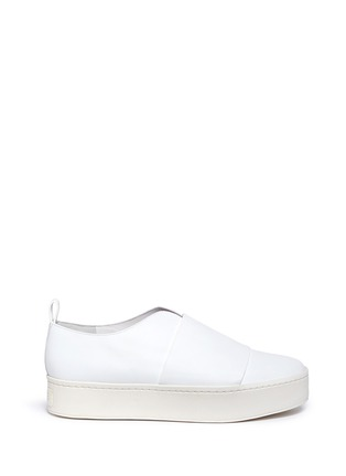 Main View - Click To Enlarge - Vince - 'Wallace' wide band leather platform skate slip-ons