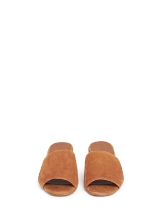 Front View - Click To Enlarge - Vince - 'Rachelle' suede mules