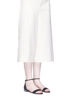 Pedder Redx Fleamadonna faux pearl heel suede sandals