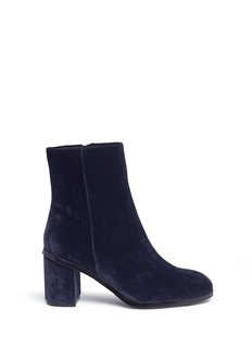 Pedder Red Velvet ankle boots