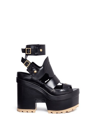 Main View - Click To Enlarge - Sacai - x Pierre Hardy caged leather platform sandals