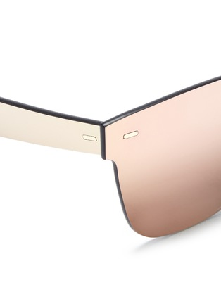 Detail View - Click To Enlarge - SUPER - 'Tuttolente Classic' rimless all lens D-frame sunglasses