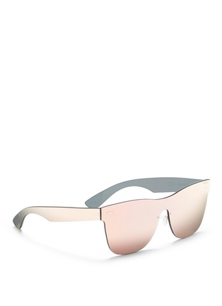 Figure View - Click To Enlarge - SUPER - 'Tuttolente Classic' rimless all lens D-frame sunglasses