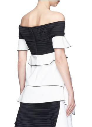 Back View - Click To Enlarge - Proenza Schouler - Off-shoulder pleated ruffled crepe top