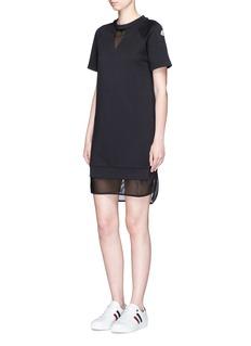 Moncler Mesh layer sweatshirt dress