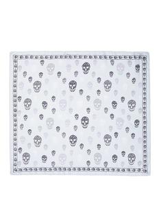 Alexander McQueenClassic skull print silk chiffon scarf
