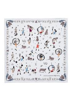 Alexander McQueen'Circus Tricks' silk chiffon scarf