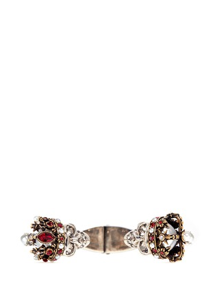 Figure View - Click To Enlarge - Alexander McQueen - King and Queen skull Swarovski crystal cuff