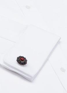 Alexander McQueenCrystal embellished medallion cufflinks
