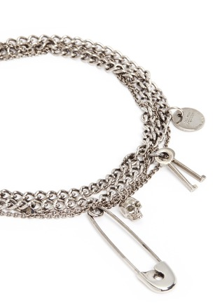 Detail View - Click To Enlarge - Alexander McQueen - Assorted charm curb chain necklace