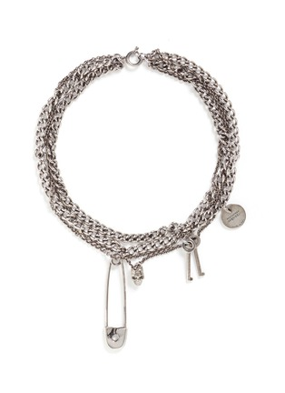 Main View - Click To Enlarge - Alexander McQueen - Assorted charm curb chain necklace
