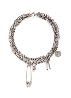 Alexander McQueen Assorted charm curb chain necklace