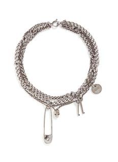 Alexander McQueenAssorted charm curb chain necklace