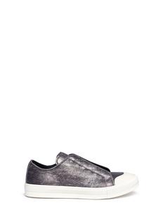Alexander McQueenCrinkled metallic leather sneakers