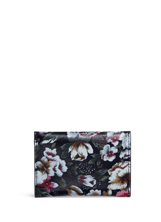 Figure View - Click To Enlarge - Alexander McQueen - Skull floral print leather envelope card holder