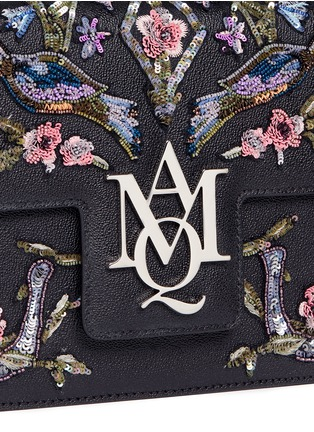 - Alexander McQueen - 'Insignia' floral and bird embellished leather satchel