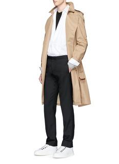 Maison MargielaDouble layer bib front tuxedo shirt
